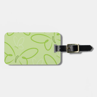 Butterfly pattern bag tag
