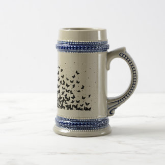 Butterfly pattern beer stein