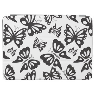 Butterfly Pattern - Black and White iPad Air Cover