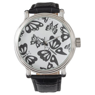 Butterfly Pattern - Black and White Watch