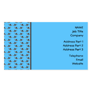 Butterfly Pattern. Blue. Business Card Templates