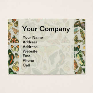 Butterfly pattern business card