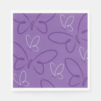 Butterfly pattern disposable napkin
