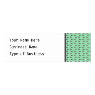 Butterfly Pattern. Green. Business Card