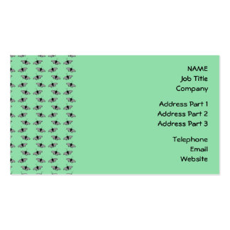 Butterfly Pattern. Green. Business Card Templates