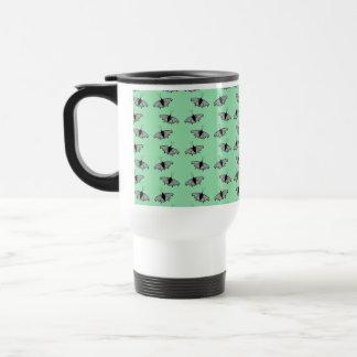 Butterfly Pattern. Green. Mug