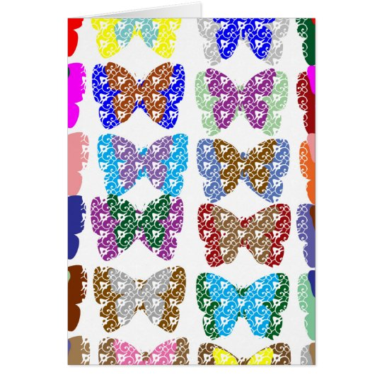 Butterfly  Pattern Jewel- Add Text or Image Card