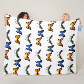 Butterfly Pattern Large Fleece Blanket