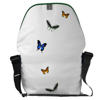 Butterfly Pattern Messenger Bag