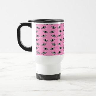Butterfly Pattern on Pink. Coffee Mug