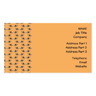 Butterfly Pattern. Orange. Business Card