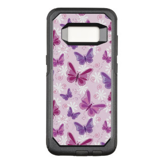 butterfly pattern OtterBox commuter samsung galaxy s8 case