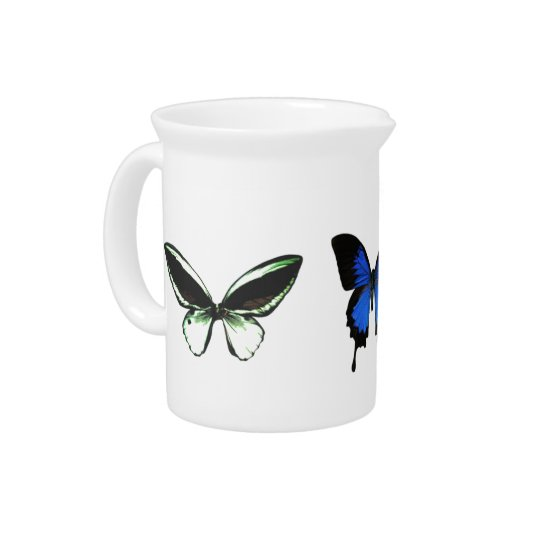 Butterfly Pattern Pitcher