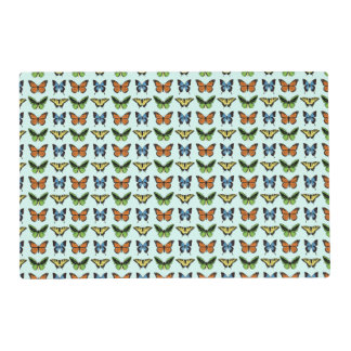 Butterfly Pattern Placemat Laminated Place Mat