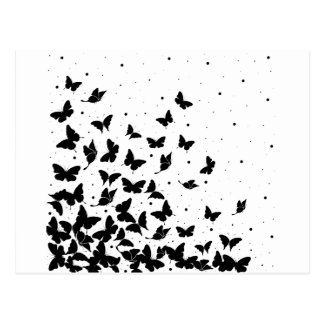 Butterfly pattern postcard