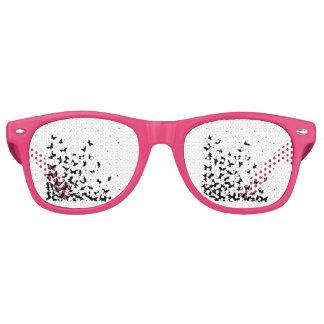 Butterfly pattern retro sunglasses