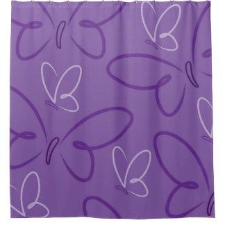Butterfly pattern shower curtain