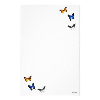 Butterfly Pattern Stationary Stationery