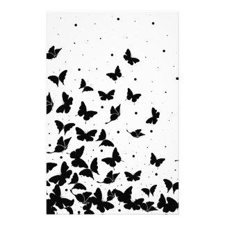 Butterfly pattern stationery