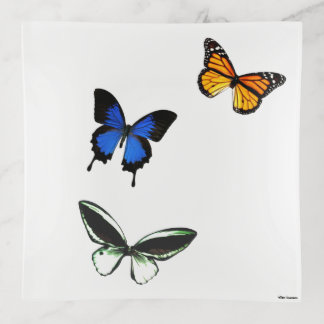 Butterfly Pattern Trinket Tray