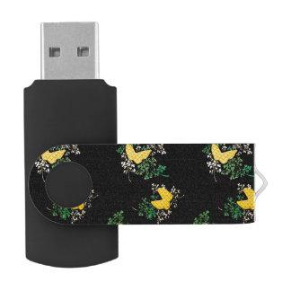 Butterfly Pattern USB Flash Drive