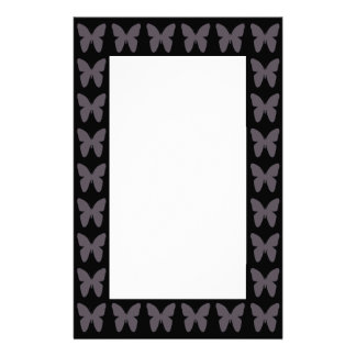 Butterfly Patterns Butterflies In Black And White Personalized Stationery