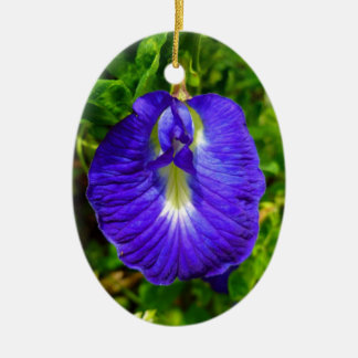 Butterfly Pea Ceramic Ornament