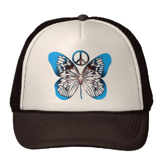 BUTTERFLY & PEACE SIGN CAP