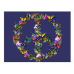 Butterfly Peace Symbol Postcards