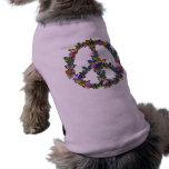 Butterfly Peace Symbol Sleeveless Dog Shirt