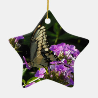 Butterfly Photo Gift Ceramic Star Decoration