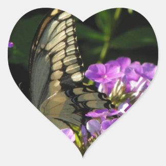 Butterfly Photo Gift Heart Sticker