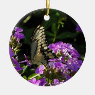 Butterfly Photo Gift Round Ceramic Decoration