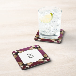 Butterfly Photo Template Cork Coaster
