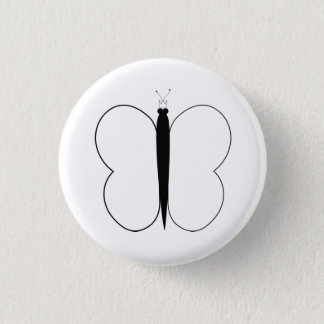 Butterfly Pic 3 Cm Round Badge