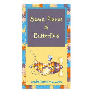 Butterfly Pilot Pixel Art Airplane Business Card