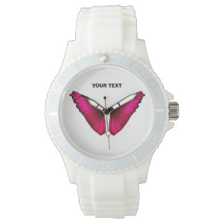 Butterfly pink monarch watch