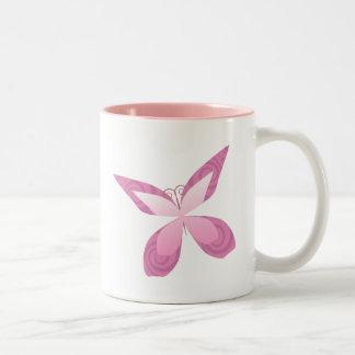 Butterfly Pink Ribbon Mugs