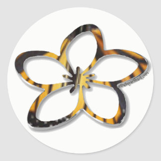 Butterfly Plumeria (Frangipani) Sticker