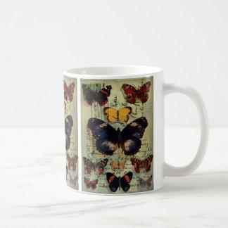 Butterfly Postcard Basic White Mug