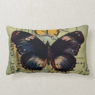 Butterfly Postcard Lumbar Pillow