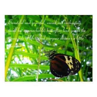 Butterfly Postcard / Quote