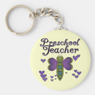 Butterfly Preschool Teacher Tshirts and Gifts Key Ring