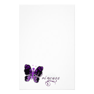 Butterfly Princess Letters Custom Stationery