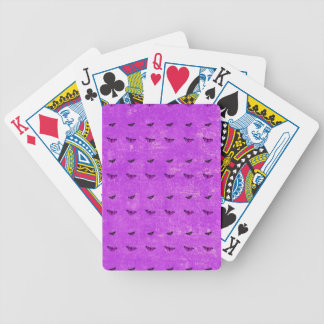 Butterfly print purple bicycle playing cards