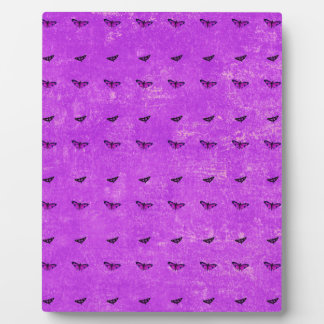 Butterfly print purple plaque
