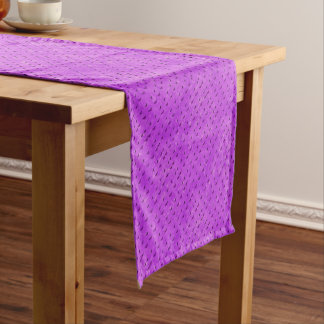 Butterfly print purple short table runner