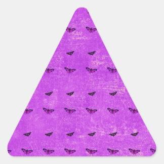 Butterfly print purple triangle sticker
