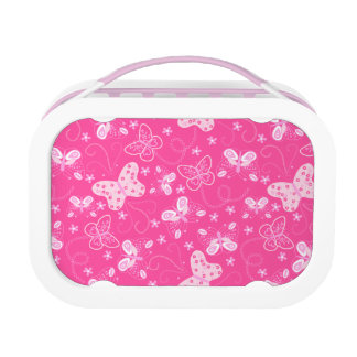 Butterfly printed embroidery lunch box