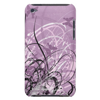 Butterfly Purple Grunge Swirl Touch Cas iPod Case-Mate Cases